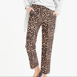 J Crew Collection Wool Silk Leopard Pants Size 10
